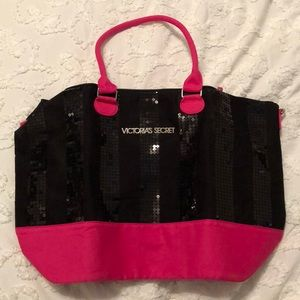 NWOT VS Black and Pink Tote Bag